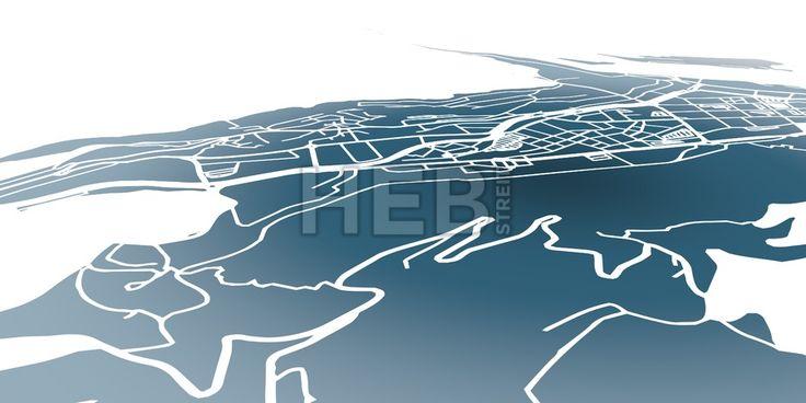 Andorra la Vella 3D Navigation Background Map by #Hebstreit #AndorralaVella #beautiful #black #capital #center #checkerd