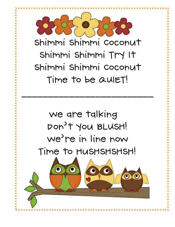 Classroom Line Up Ideas ~ Best kindergarten chants ideas on pinterest