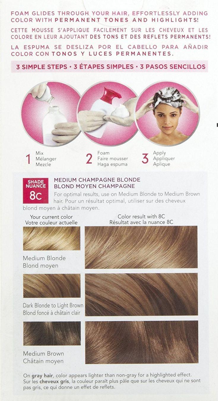 The 25 best foam hair color ideas on pinterest foam hair dye clairol nice n easy color blend foam hair color 8c medium champagne blonde nvjuhfo Choice Image