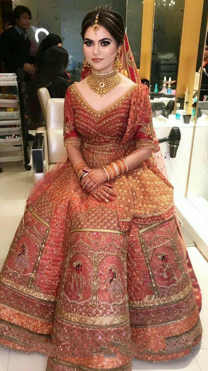 Pin By Sidra On Bridal Wedding Lehenga Designs Bridal Lehenga Red Indian Bridal Outfits