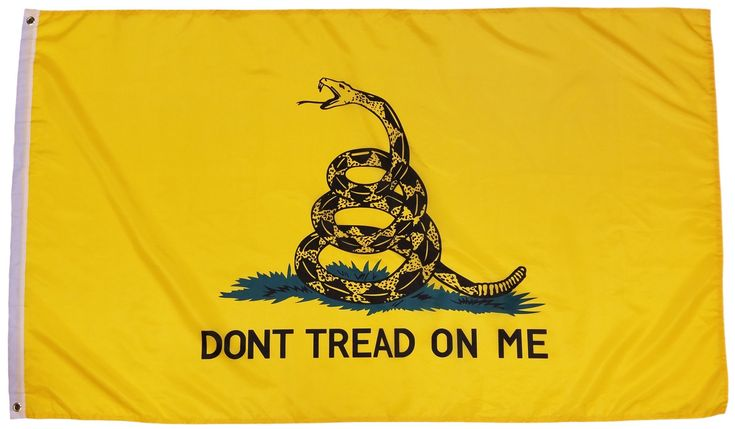 Gadsden Flag Dont Tread On Me Flag 3x5 Feet - Flag, Polyester Tea Party Rattle Snake Banner with Grommets 3x5 Double Stitched