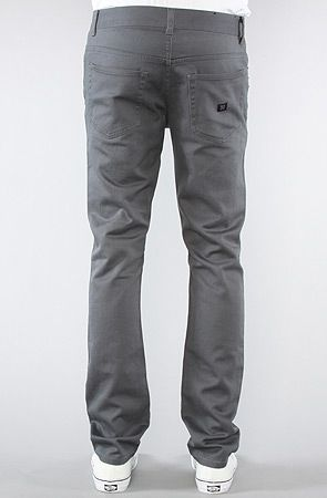 The K Skinny Fit Twill Pants in Grey by KR3W