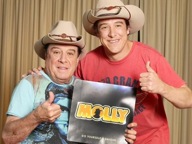 Molly Meldrum and Samuel Johnson for the new Seven miniseries  <i>Molly</i>.