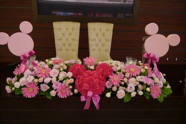 結婚式場写真「ディズニー好きにはたまらないこんなテーブル装花も大歓迎♪ゲストも自然と笑顔になります^^」 【みんなのウェディング】