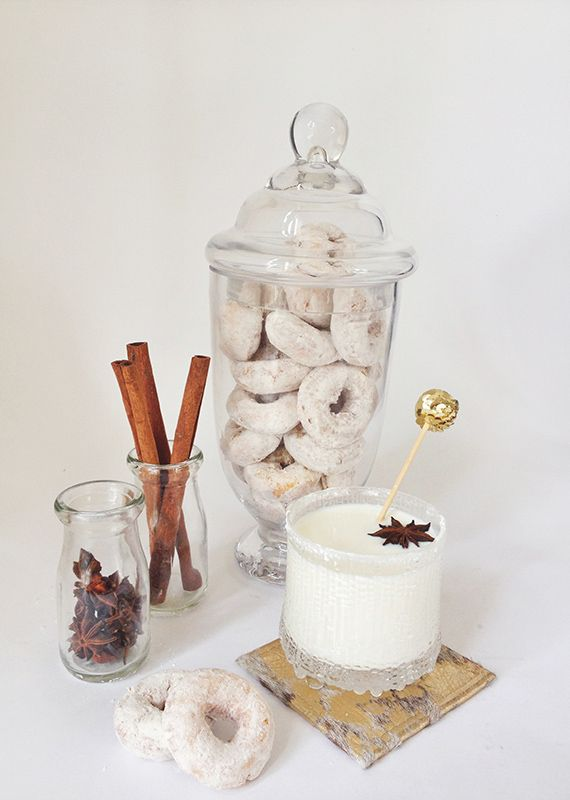 Yummy cocktails paired with donuts! @jan issues issues Wilke Russell-Snider Bridal #fallcocktails #holidaycocktails #100layercake