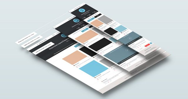Perspective Psd Collection Responsive Web Design Mockups Displayed In Perspective Thanks To Smart Layers P Web Design Mockup Responsive Screen Mockup Design
