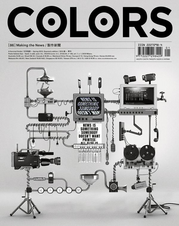 COLORS 86: Making the News by IdN Magazine , via Behance