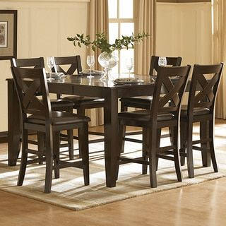 TRIBECCA HOME Acton Merlot X-back 7-piece Counter Height Dining Set | Overstock.com Shopping - The Best Deals on Dining Sets