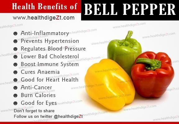 Benefits of Bell pepper.