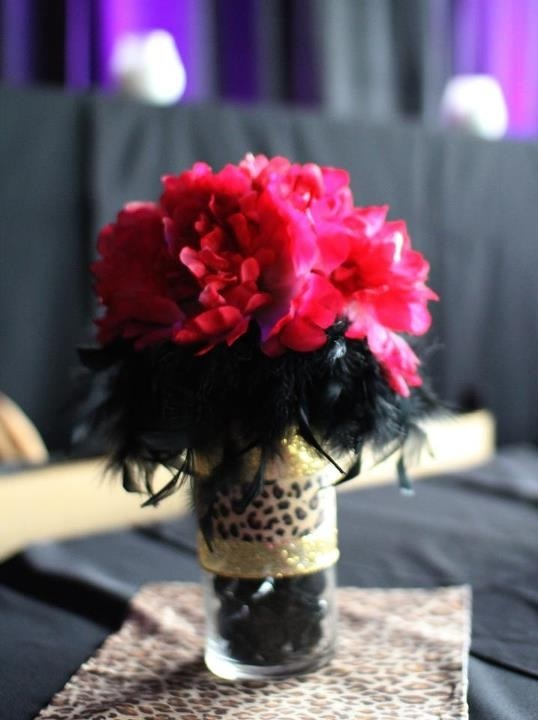 30th birthday centerpieces Cheetah print/feathers/stones & 58 best Cheetah Print Theme! :) images on Pinterest | Leopard prints ...