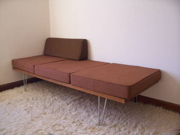 detroit george nelson herman miller era daybed sofa hairpin legs 395 http - Daybed Sofa