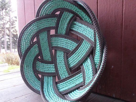 15  corde Fruits Basket pièce maîtresse menthe par AlaskaRugCompany