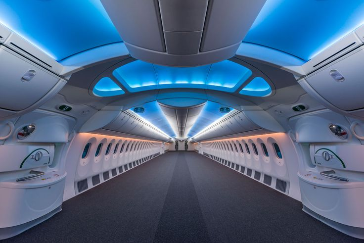 Picture of the Day: The Inside of an Empty Boeing 787 Dreamliner