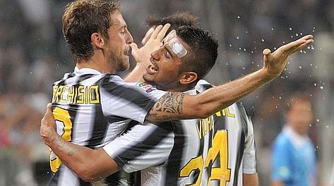 Marchisio e Vidal in Juve - Milan 2-0