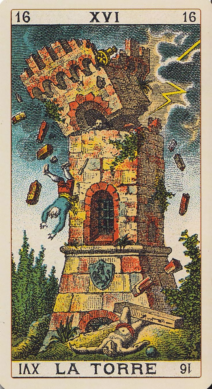 48 Best Images About Tarot: The Tower On Pinterest