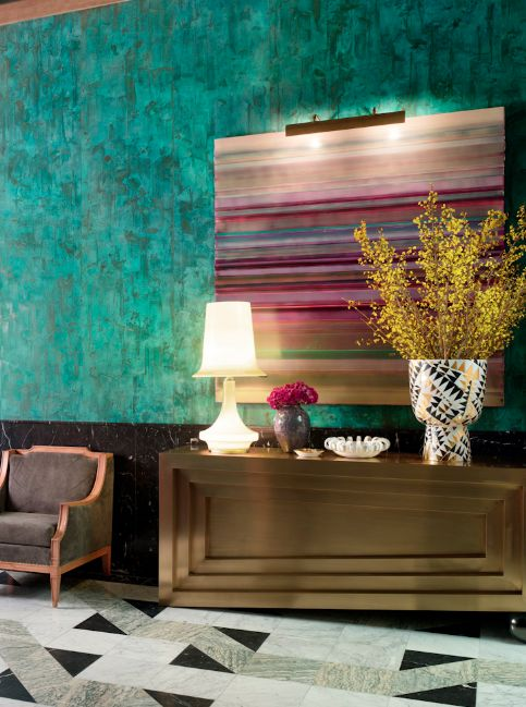 Incredible Wall Treatment Featured In Kelly Wearstlers Book Hue Do Believe This Is The Viceroy Hotel Miami