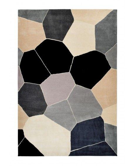 DAN300 Fragments Monochrome Indoor Outdoor Rug