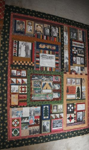 What a wonderful idea.  A Memory Quilt to honor her mother.