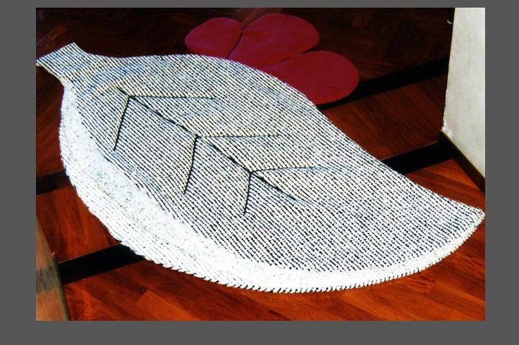 tappeto foglia in tessuto arredamento