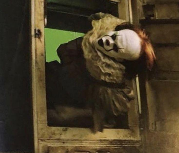 pennywise bill skarsgård billskarsgard behind the scenes bts it movie it 2017 stephen king OscarForBill clownfuckery