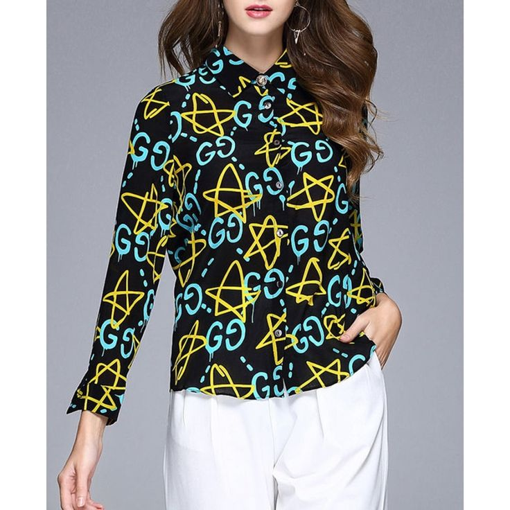 Original 2017 Brand Women' Shirt Multicolor Printed Casual Fashion H-line Blouse Wholesale