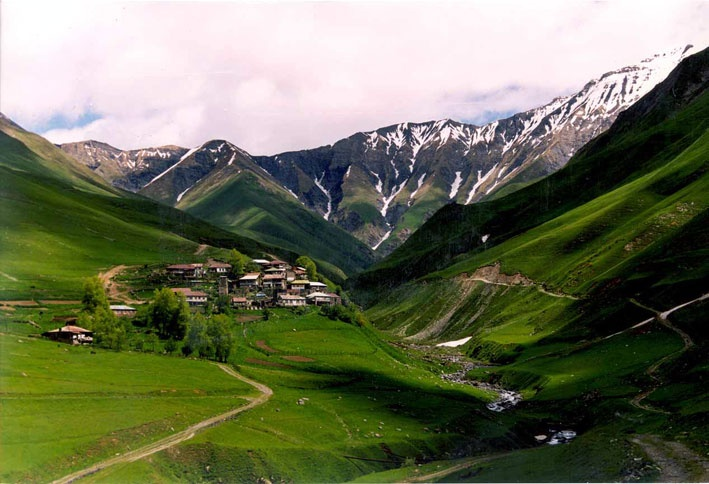 kazbegi valley, Georgia