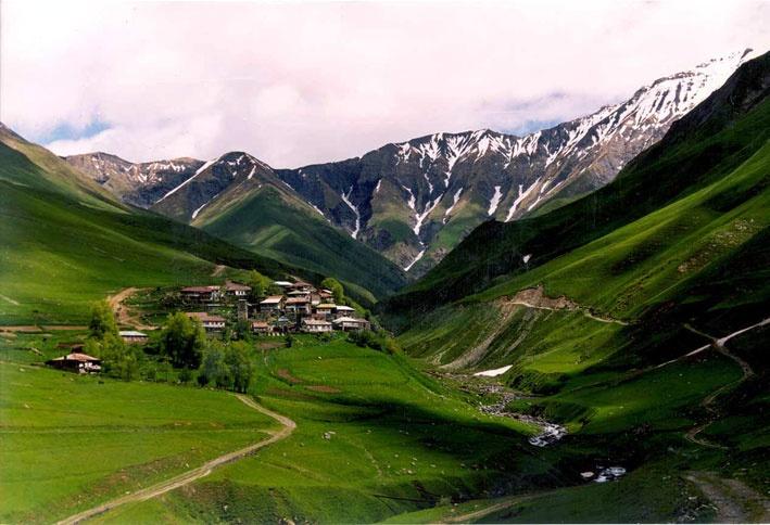 kazbegi valley, Georgia