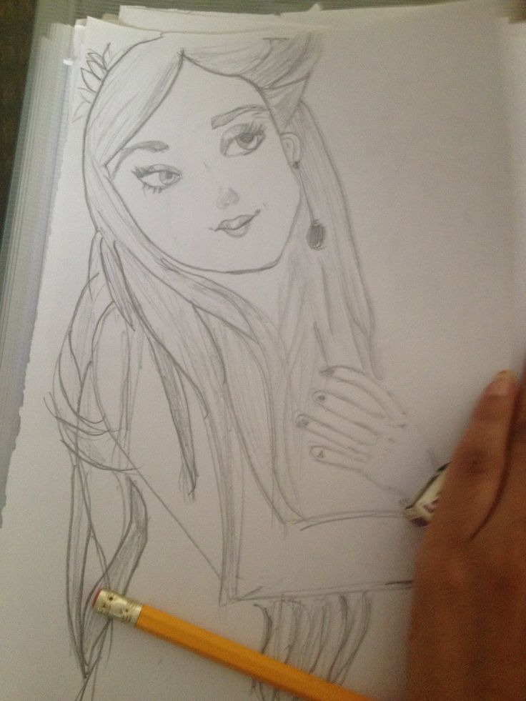 Painting pencil painting ,girl painting ,drawing,art