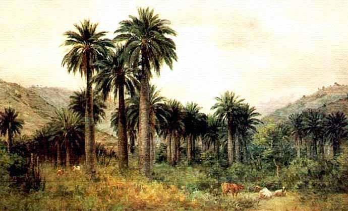 Pintor Onofre Jarpa, nacido en Villa de Alhué, Chile, 1849-1940.