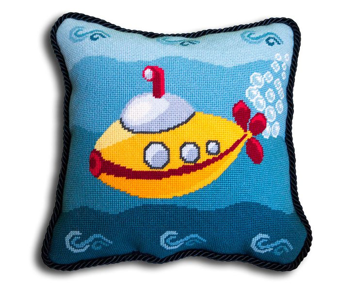 Modern Cross Stitch Pillow Kits : 1000+ images about Needlepoint Kits and Patterns on Pinterest