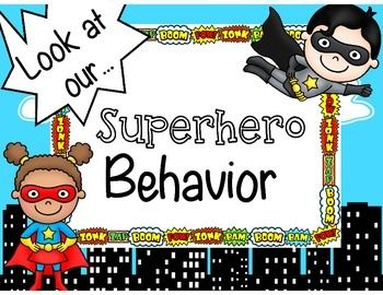 Superhero Behavior Clip ChartIf you like this, check out my complete superhero decor. kit in my store!