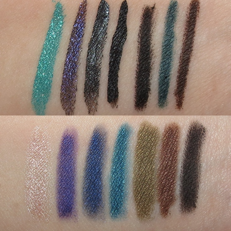 Make Up For Ever THE ULTIMATE EYE LINER COLLECTION Swatches & Review