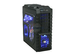 Cooler Master HAF X Blue Edition - High Air Flow Full Tower Computer Case with Windowed Side Panel and USB 3.0