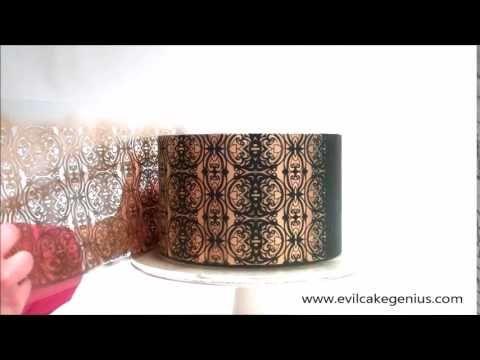 Velvet Burnout Cake Stencil - Airbrushed ❤ https://www.youtube.com/watch?v=SVFR_mI7SGo