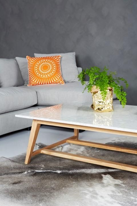 SLOAN RECTANGULAR MARBLE COFFEE TABLE