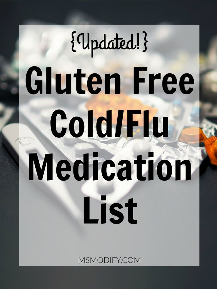 List of Cold/Flu Medications that are Gluten Free
