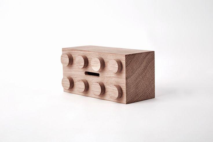 Solid oak Brick money saver