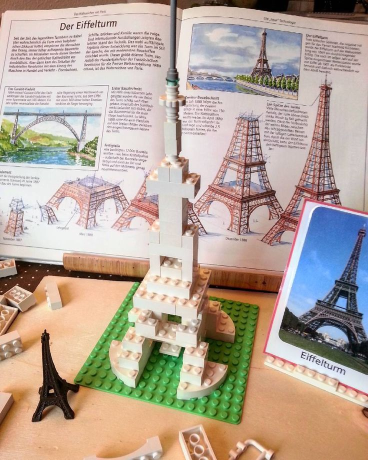We continue to work on our architecture project . And here is the Eiffel Tower. I guess ;-) We also found a wonderful book. It works perfectly with the world landmarks @SafariLTD.  #architecture #lego #eiffelturm #kidsart #montessori #montessoriactivity #mathe #vorschule #playmatters #montessorichild #montessoribook #momson #safariltd #bookcollector #ontheshelves #blocks #preschooler #kidscraft