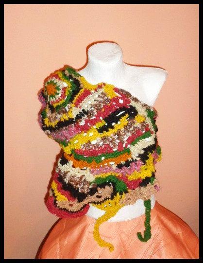 Scarves Scarf Jacket Bolero Christmas Knit Scarf by techirshop