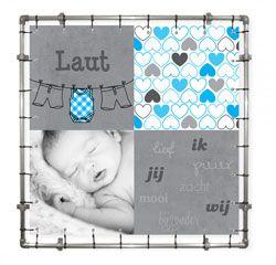 Geboortezeil | geboortebord | spandoek van geboortekaartje