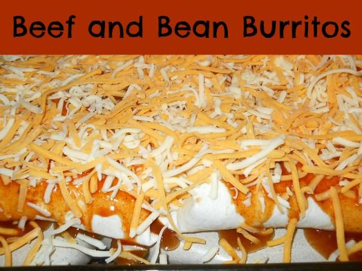 beef minute beef and bean burritos sixteen minute beef and bean ...