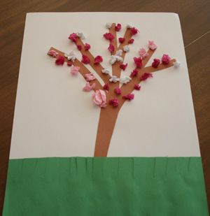 Our Cute Tissue Paper Blossom Craft Is A Wonderful Spring For Kids With Little Glue And Provided Template Your Can Make