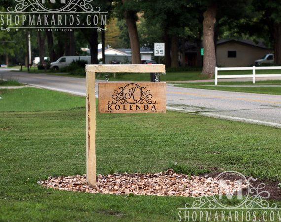 Outdoor Address Sign.Custom Yard Sign.Custom Home by MakariosDecor
