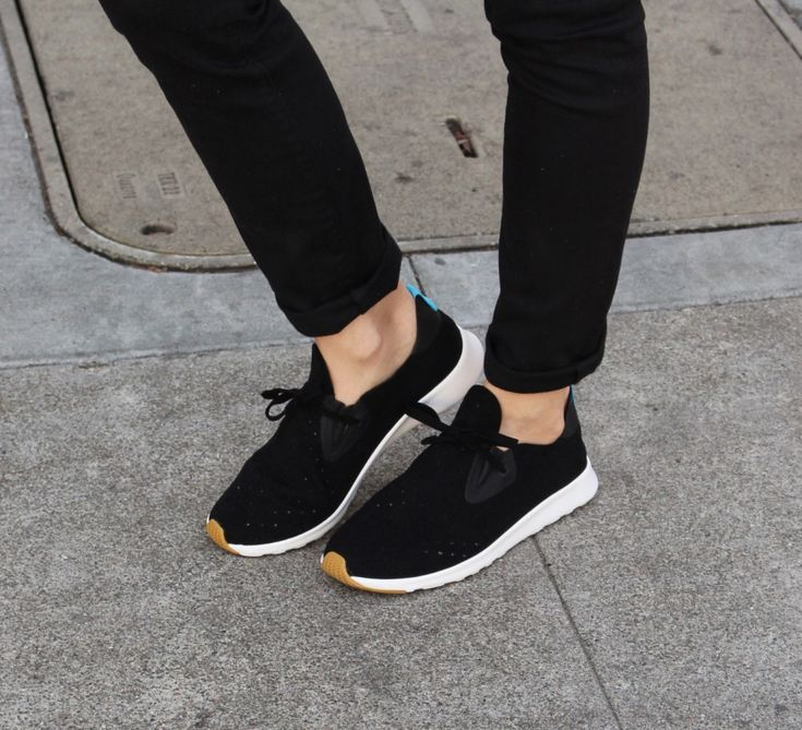These casual sneakers are the Apollo Moc from Native shoes, the absolute best for traveling. Light and comfy, the fold down to almost nothing in your suitcase. They're vegan too! My new fave sneaks!