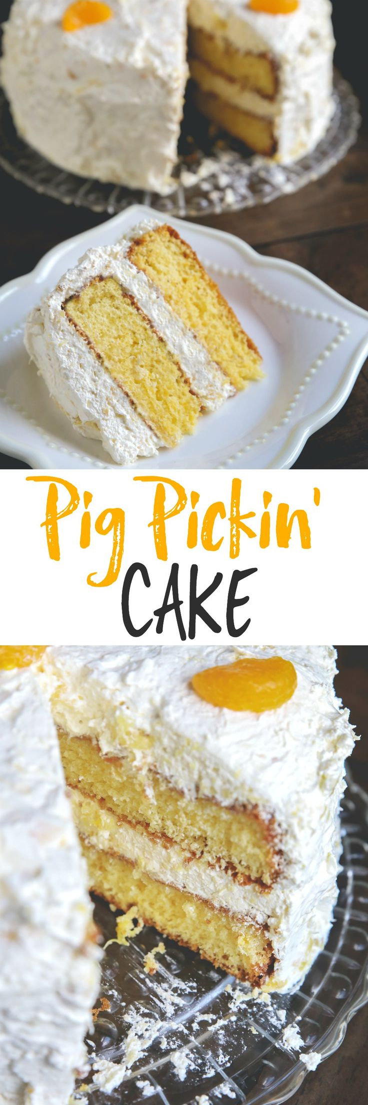 The perfect summer cake for cookouts and potlucks - the pig pickin' cake! It's a southern classic!