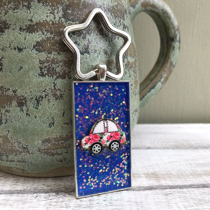 Blue Sparkly Car Keyring, You've Passed, Motorcar Lover, New Home, Bag Bling, Cute Car Keyring, New Car, Home Sweet Home, Beetle Car Gift by nimmysjewellery on Etsy
