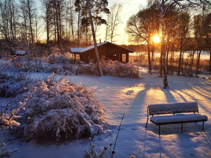 Talven ihmeitä Heinolassa joulukuussa 2013.