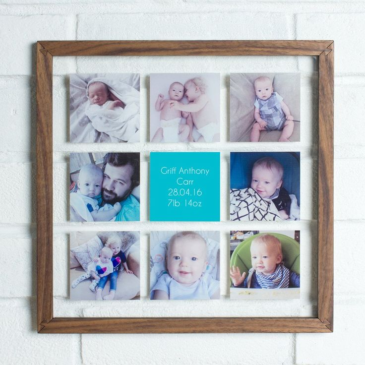 Personalised Multi Photo Wood Acrylic Frame   Create Gift Love £85    Our acrylic frame is a great photo display idea and gift idea for birthdays or anniversaries.  #photogift #creategiftlove