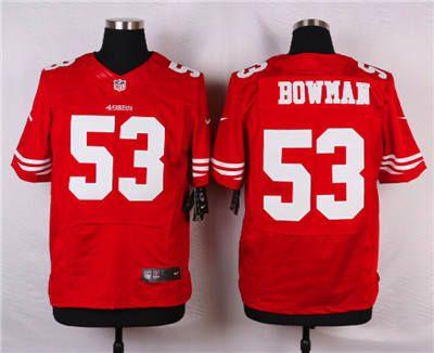 9a97a1013 ... NFL Jersey Nike San Francisco 49ers 53 NaVorro Bowman Red Elite Jersey  ...