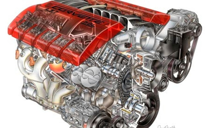 2006 Chevrolet Corvette Z06 V8 engine #SWEngines